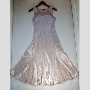 Vintage Komarov charmeuse and chiffon dress